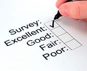 Our recent customer survey results