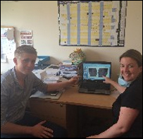 Work experience at Cherrybank for budding dentist