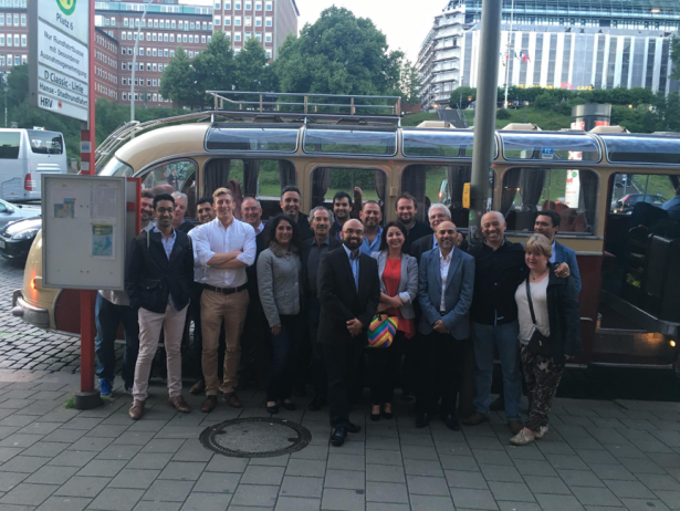 Dr Josh Rowley visits DMG headquarters in Hamburg